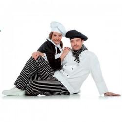 Pantalón de cocinero a rayas unisex