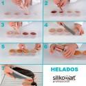 Set de moldes cilíndricos multiflex de silikomart