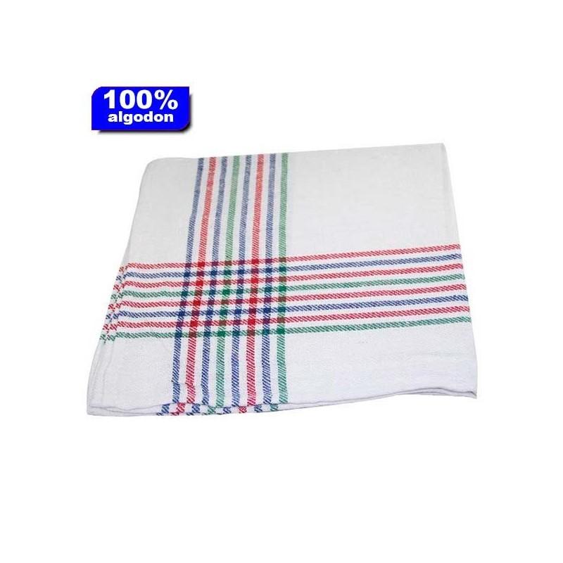Paño camarero blanco 12 unidades de 60x60 cm