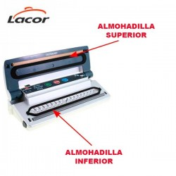 Juego de almohadillas superior e inferior de envasadora Lacor 69050
