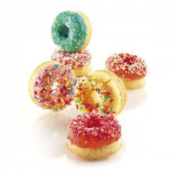 Molde de silicona mini donuts SiliconFlex de Silikomart