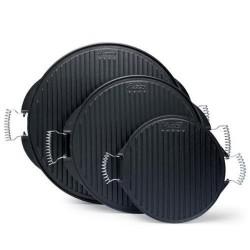 Plancha grill de hierro fundido tamaño-Redonda - 42 cm acabado-Con esmalte
