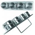 Set de 4 especieros magnéticos con soporte de Ibili