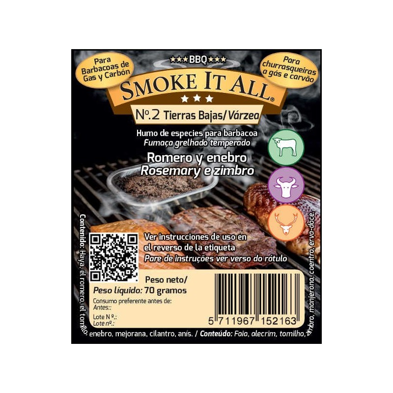 Smoke it all - virutas con especias para BBQ