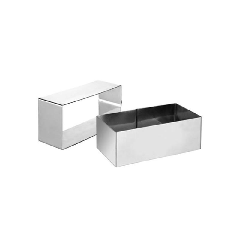Molde aro rectangular acero 12x6 cm Ibili