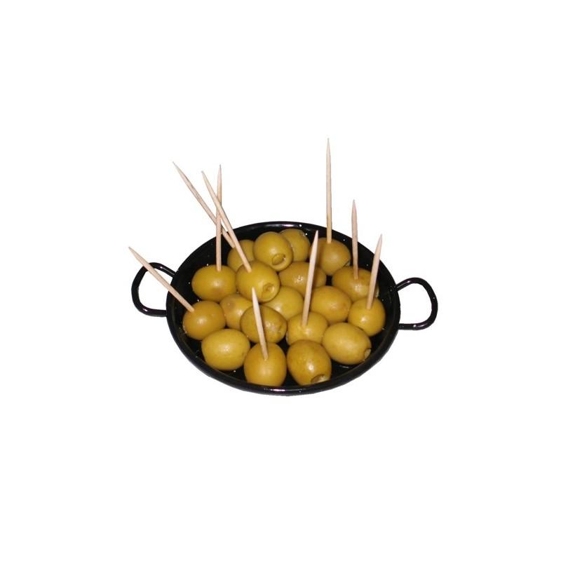 Mini paellas esmaltadas para tapas, Garcima
