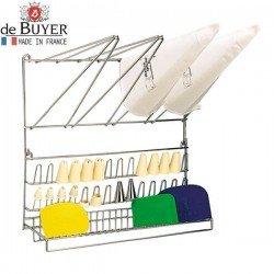 Soporte secador mural para mangas y boquillas de De Buyer