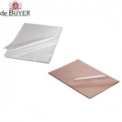 50 hojas de plástico para chocolate calcomanía de De Buyer