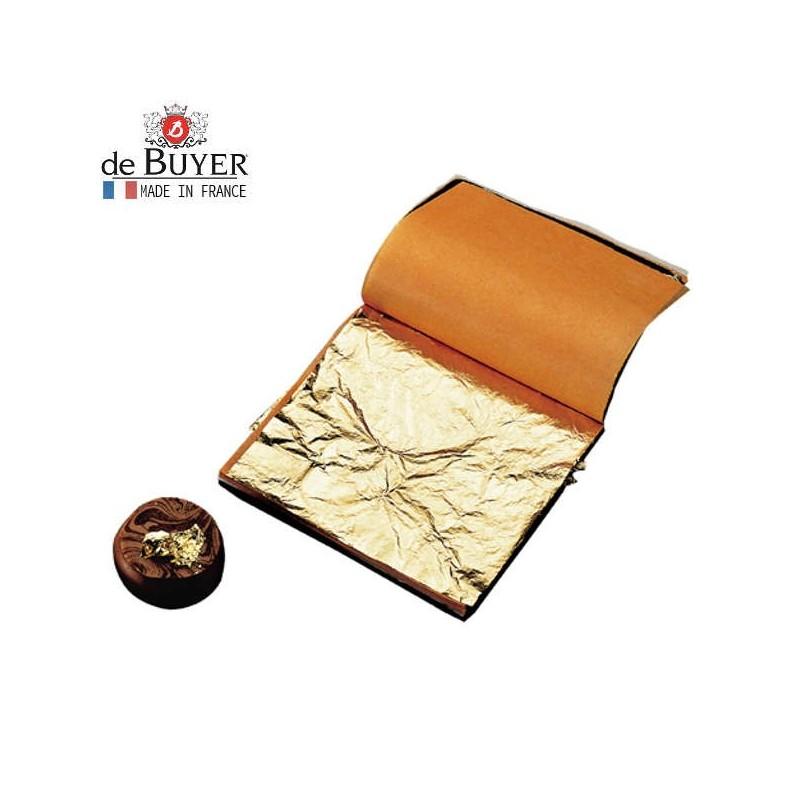 100 hojas de 8x8 cm de pan de oro de De Buyer