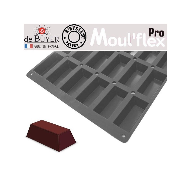 Molde mini cakes Moul Flex Pro 60x40 de De Buyer