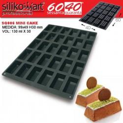 Molde mini cake 60x40 SQ006 de Silikomart Profesional