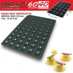 Molde mini tartelettes 60x40 SQ008 de Silikomart Profesional