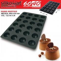 Molde muffins 60x40 SQ009 de Silikomart Profesional