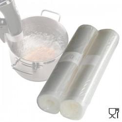 Pack 2 rollos gofrados para cocinar a baja temperatura y envasar
