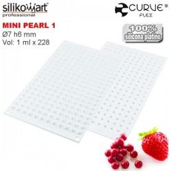 Molde de silicona Mini Perlas Curveflex de Silikomart