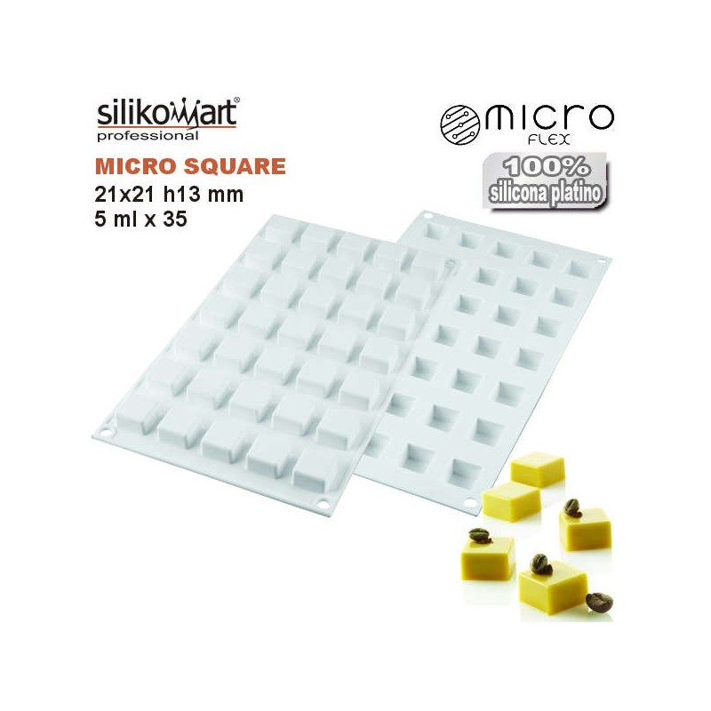 Molde de silicona MICRO SQUARE5 de Silikomart