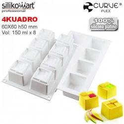 Molde 4kuadro CurveFlex de Silikomart