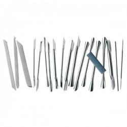 Kit 18 herramientas para decoración + piedra de afilar Tellier