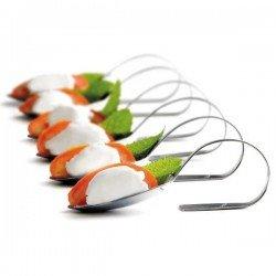 Set de cucharillas de presentación de acero