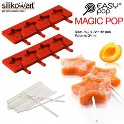 Molde EasyPop Magic pop de Silikomart (2 moldes + 50 sticks)