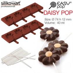 Molde EasyPop Daisy pop de Silikomart (2 moldes + 50 sticks)
