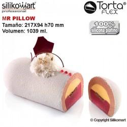 Molde Mr Pillow + cortapastas Tortaflex de Silikomart