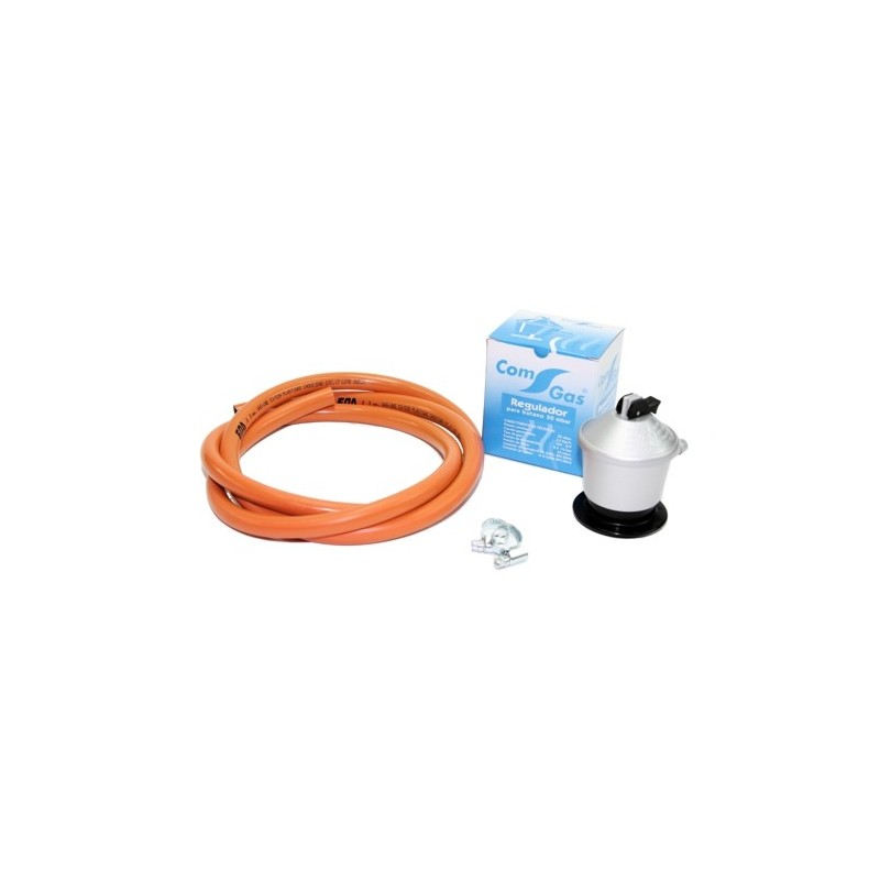 kit de gas para paelleros con regulador de 30 mbar