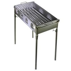 Barbacoa de hierro para leña y carbon, desmontable
