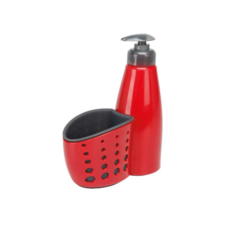 Dosificador de jabón con recipiente para esponja