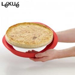 Molde tartas de silicona + base de cerámica Lékué