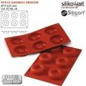 Molde de silicona savarin mediano SilikomFlex de Silikomart