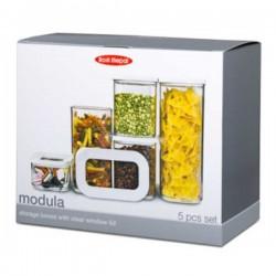 Set de inicio de 5 botes de cocina Modula de Rosti Mepal