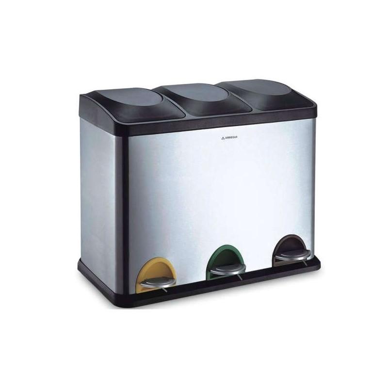 Cubo de reciclaje 45 L. (3x15L.)
