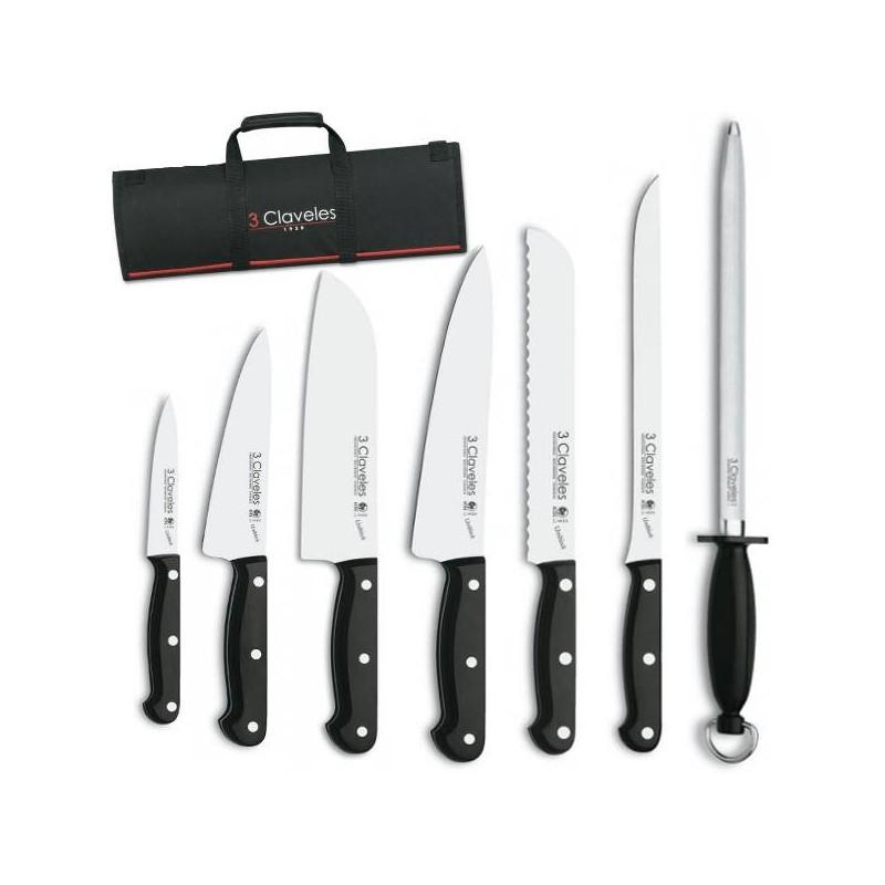 Juego de cuchillos Uniblock de 3 Claveles