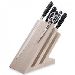 Taco de 5 Cuchillos de la serie Forgé y tijera de 3 Claveles