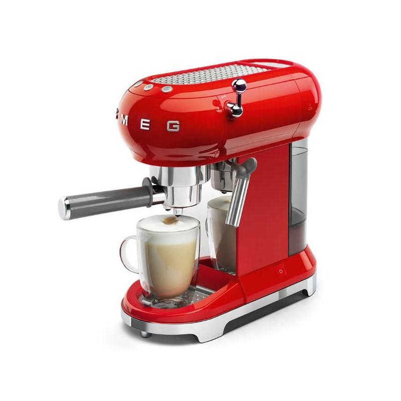 Cafetera expresso retro años 50 de Smeg