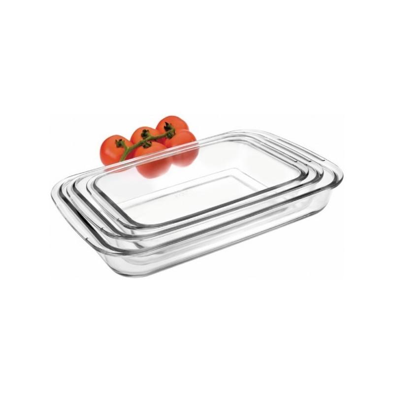 Set fuentes rectangulares de cristal para el horno Ibili