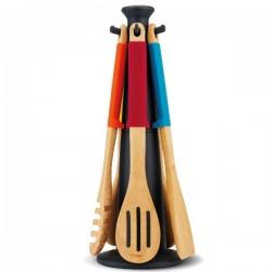 Set 5 utensilios de madera Carousel Elevate Joseph Joseph
