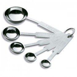 Juego 5 cucharas de medida de acero inox de Inoxibar