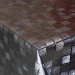 Hule de mesa Petra Argentum serie Ferrum. Al corte