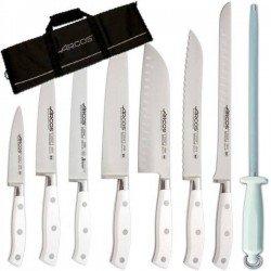 Juego de cuchillos profesionales con funda Riviera Blanc de Arcos