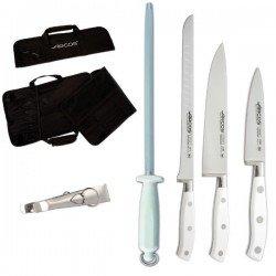 Set de juego de cuchillos profesionales para cortar jamon
