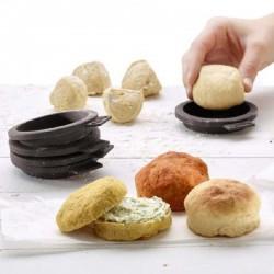 Moldes de mini panecillos de hamburguesas de Lékué