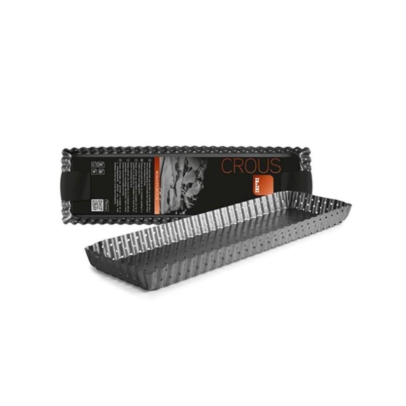Molde rectangular alargado perforado Crous de Ibili