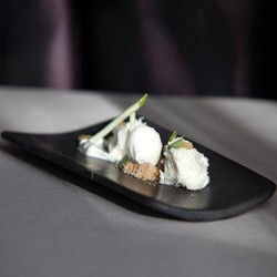Plato teja de mármol Romans de 100% Chef