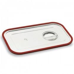 Tapa de acero con junta de silicona para cubetas Gastronorm