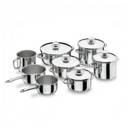 Bateria de cocina Vitrocor de Lacor 8 piezas