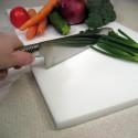 Tabla de corte en polietileno HD blanco para la cocina