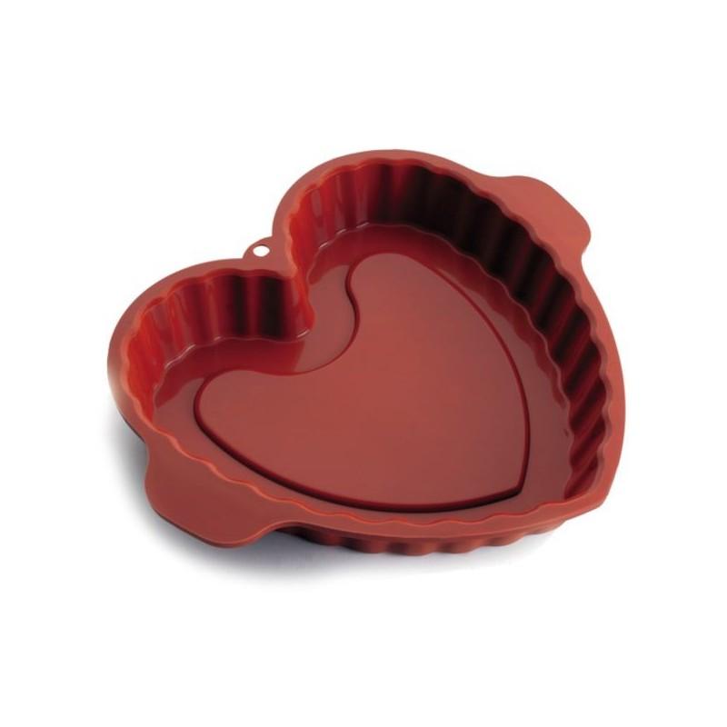 Molde corazon de silicona de Lacor