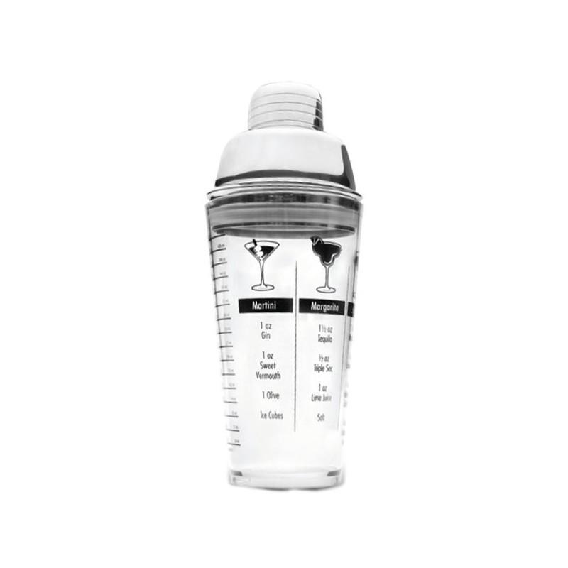 coctelera acrilica con tapon inox y medidas de Lacor